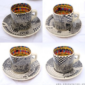 espresso cups, 4 pieces